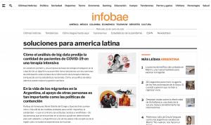Captura de pantalla del sitio Infobae