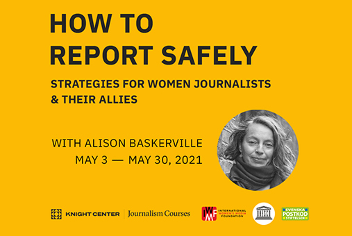 Self-directed banner for how to report safely