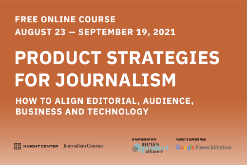 Product Strategies for Journalism Banner
