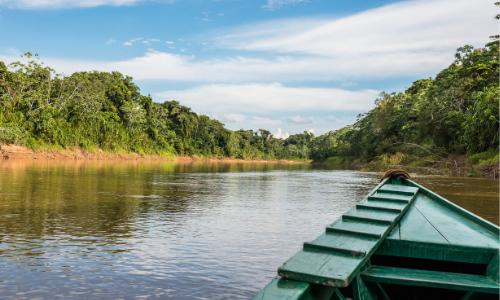 Amazon River in Madre De Dios, Perú