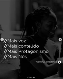 Slogan da Black Adnet, rede de mídia negra