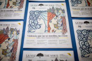 La Voz de Guanacaste's special print edition on gender violence