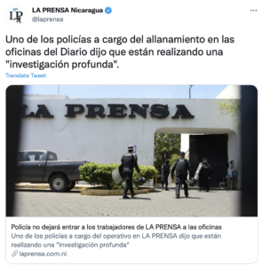 Investigation of La Prensa