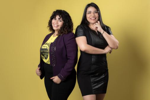 Catherine Calderón e Jennifer Ávila, cofundadoras do hodurenho Contracorrente: jornalismo investigativo de impacto em ambiente hostil para jornalistas mulheres